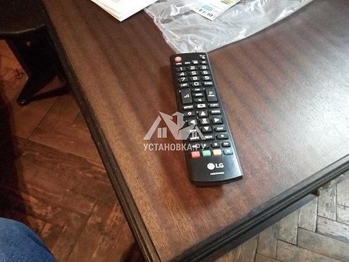 Установить на подставку и настроить новый телевизор LG
