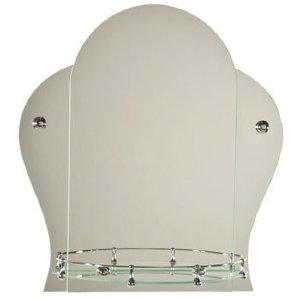 Зеркало ST №Т с креплением 520 х 560 (серебро)