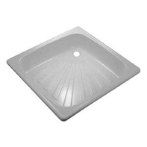 Поддон  металлический эмалированный белый (800х800х15х1.00) квадрат (RUS)