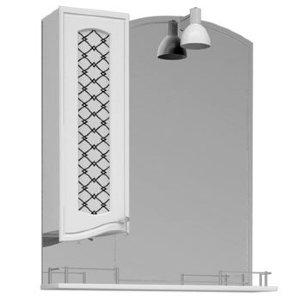 НЗ  Зеркало-шкаф ST 90 см ВЕГА 4 левый, с подсветкой