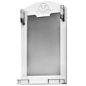 НЗ  Зеркало с 2-мя светильниками ST 65-2 см АУРА 3 (белый)