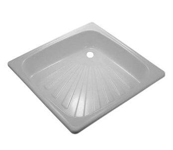 Поддон  металлический эмалированный белый (700х700х15х1.00) квадрат