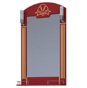 НЗ  Зеркало с 2-мя светильниками ST 65-2  см АУРА 3 (вишня)