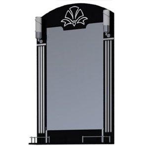 НЗ  Зеркало с 2-мя светильниками ST 65-2 см АУРА 3 (чёрный)