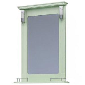 НЗ  Зеркало с 2-мя светильниками ST 65 см АУРА 3 (фисташка)