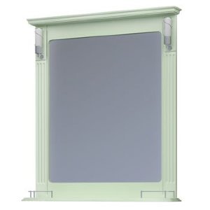 НЗ  Зеркало с 2-мя светильниками ST 85 см АУРА 3 (фисташка)