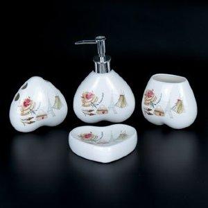 Набор для ванной из керамики ST-YU001-4 (4 предмета)