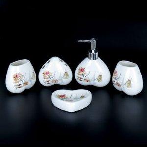 Набор для ванной из керамики ST-YU001-5 (5 предметов)