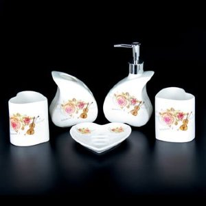 Набор для ванной из керамики ST-YU004-5 (5 предметов)