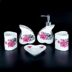Набор для ванной из керамики ST-YU005-5 (5 предметов)