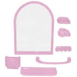 "Набор для ванной комнаты  ""ЕЛЕНА"" розовый"