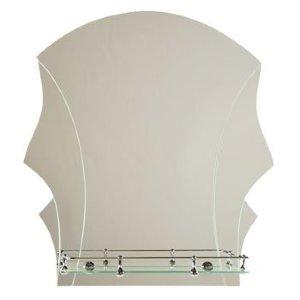 Зеркало ST №352 с креплением 500 х 600 (серебро)