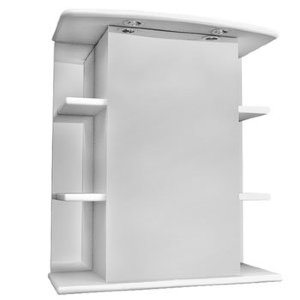 НЗ  Зеркало-шкаф ST 65 см АСТЕРИЯ (с подсветкой, левый)