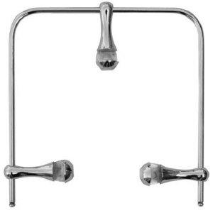 Ограничитель для полки зеркал П 12 (пруток 4 мм и 3 стойки металл)
