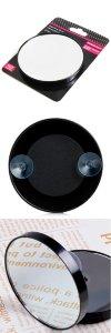 Зеркало косметическое SM-AMD130X10 на присосках, увеличение 10X, O 13 см.